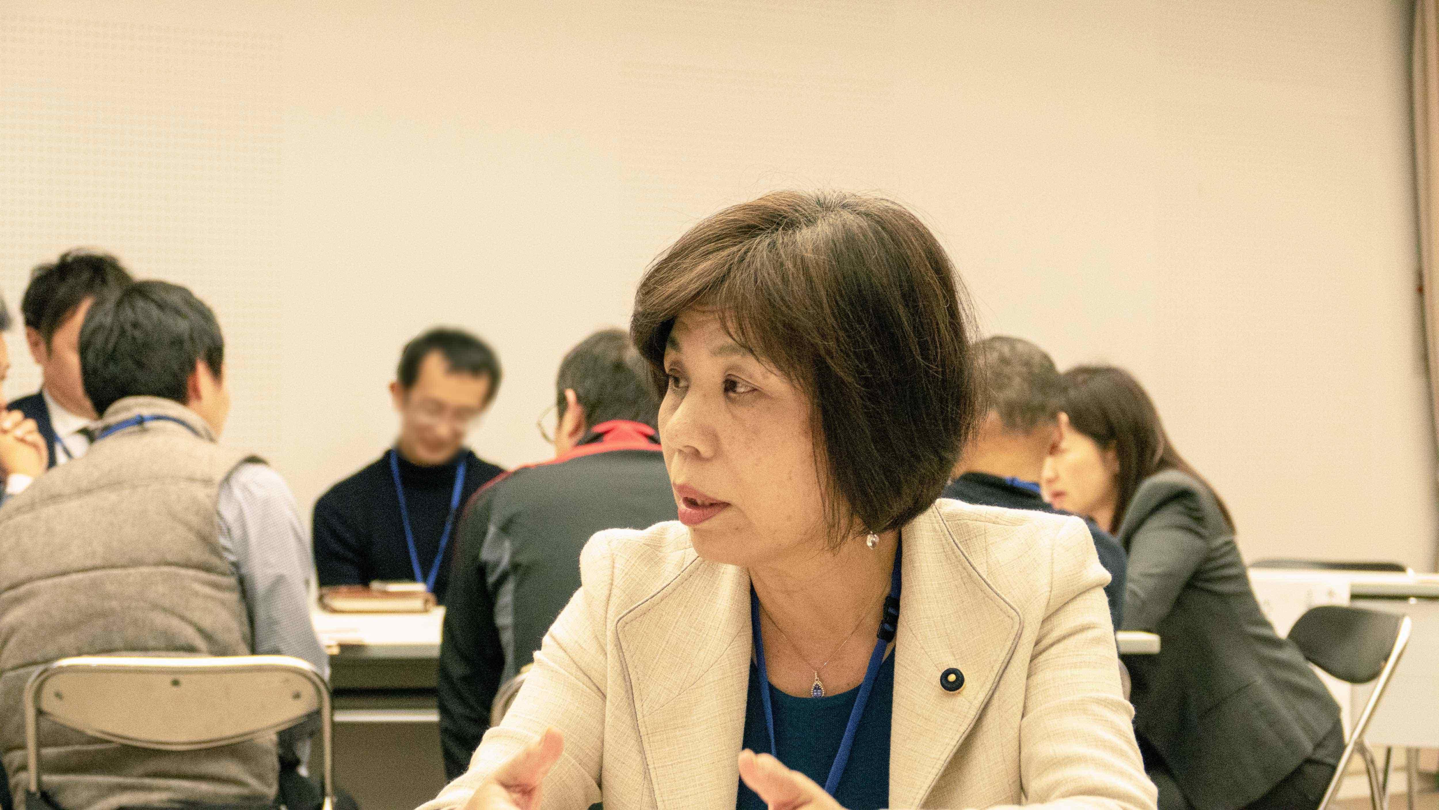 角ともこ島根県議会議員 グループディスカッション 2018年11月18日立憲民主党タウンミーティングinいずも